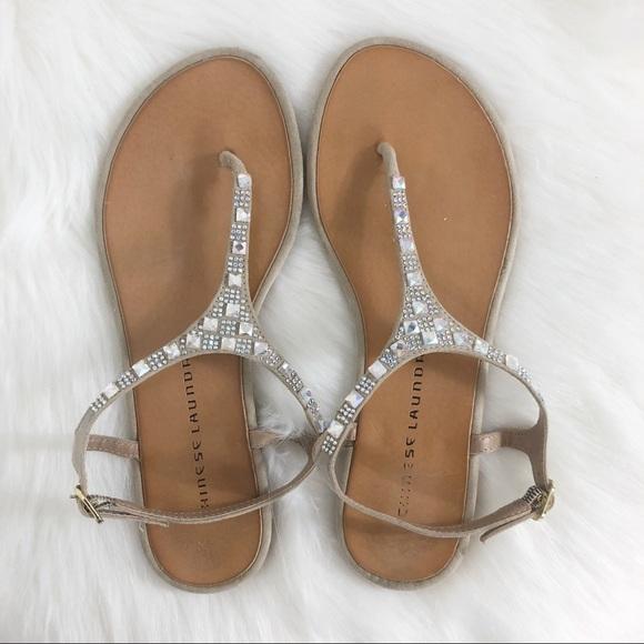 Chinese Laundry Shoes - Chinese Laundry Iridescent Rhinestone Sandal 6.5